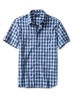 Banana Republic - Slim-Fit Plaid Short-Sleeve Utility Shirt
