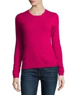 Neiman Marcus  - Cashmere Crewneck Sweater