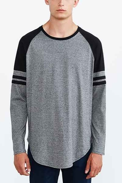 Feathers  - Athletic Curved Hem Long-Sleeve Tee