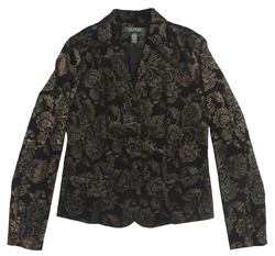 Ralph Lauren - Filigree Printed Velveteen Jacket