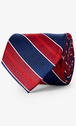 Express - Diagonal Stripe Silk Tie