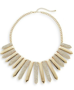 Punch - Pavé Station Bib Necklace