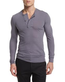 Helmut Lang  - Long-Sleeve Henley Shirt