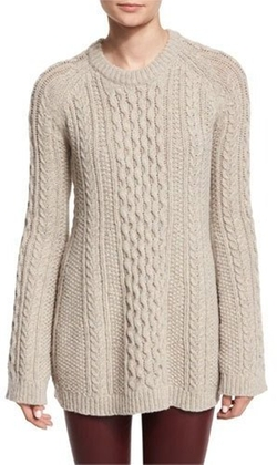 Theory - Lewens Loryfelt Cable-Knit Sweater
