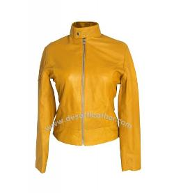 Desert Leather - Megan Fox Teenage Mutant Ninja Turtles Yellow Leather Jacket