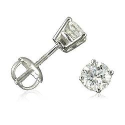 Amanda Rose Collection  - Round Diamond Stud Earrings