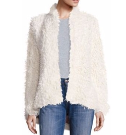 Free People - Flared & Fluffy Faux Fur Jacket