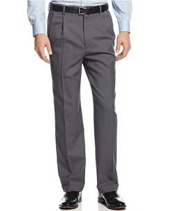 Louis Raphael - Charcoal Checked Dress Pants