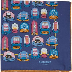 Duchamp - London Snow Globe Pocket Square