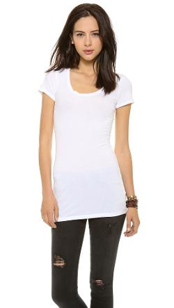 Splendid  - Layers Scoop Neck Tee