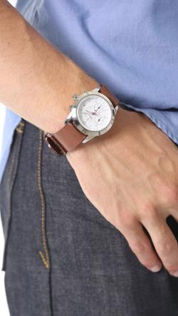 Miansai - White Watch with Brown Leather Band
