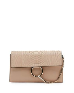 Chloé - Faye Python and Leather Clutch Bag