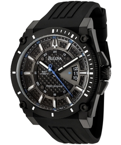 Bulova - Precisionist Rubber Carbon Fiber Dial Watch