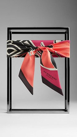 Burberry - Insects of Britain Print Silk Slim Scarf