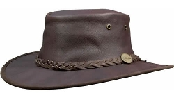 Barmah Hats - Kangaroo Leather Packable Hat