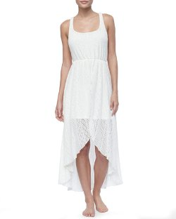 L Space Swimwear By Monica Wise   - Swept Away Crochet Dress