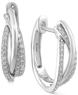 Effy Collection - Pavé Classica Diamond Hoop Earrings