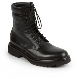 Saint Laurent - Trekker 25 Leather Lace-Up Boots