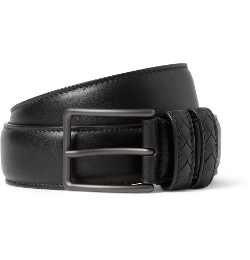 Bottega Veneta - Intrecciato-Trimmed Leather Belt