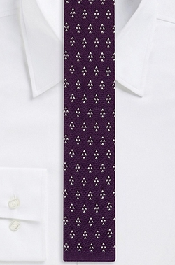 Boss - Skinny Cotton Knit Print Tie