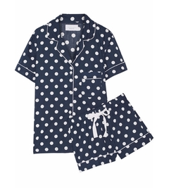 Three J NYC - Eloise Polka-Dot Cotton-Poplin Pajama Set