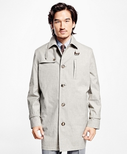 Outerwear - Single-Breasted Rain Coat