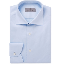 Canali - Slim-Fit Spread Collar Cotton Shirt