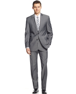 Calvin Klein - Sharkskin Slim-Fit Suit