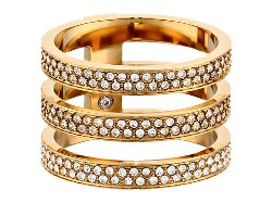Michael Kors Collection - Tri Stack Open Pave Bar