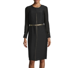 Elizabeth and James  - Annabelle Long-Sleeve Belted Dress