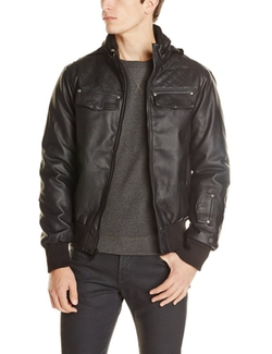 Sportier - Faux Leather Insulated Moto Jacket