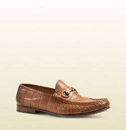 Gucci - Crocodile Horsebit Loafers