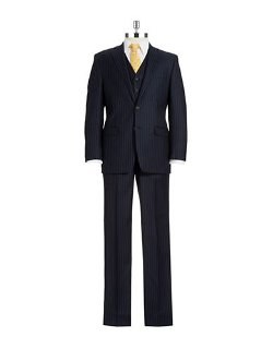 Ralph Lauren  - Three Piece Pinstriped Suit