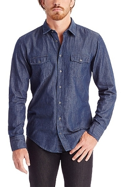 Boss Hugo Boss - Cotton Chambray Button Down Shirt