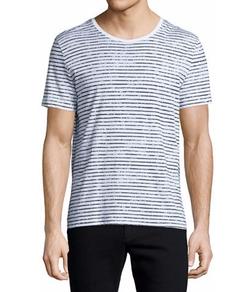 ATM  - Striped Short-Sleeve Crewneck T-Shirt