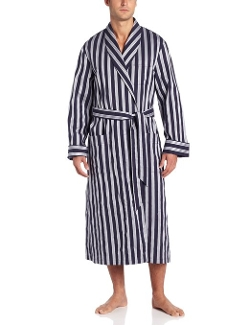 Derek Rose - Pure Cotton Stripe Robe