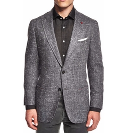 Isaia - Donegal Two-Button Jacket