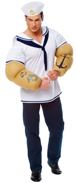 Costume Culture - Sailor Shirt with Detachable Arms Costume