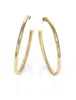 David Yurman  - Cable Classics Large Hoop Earrings