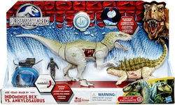 Jurassic World - Jurassic World Capture Vehicle Indominus Rex vs Ankylosaurus Exclusive Vehicle Set