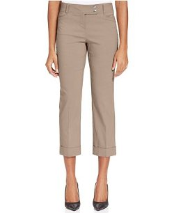 Style&Co. -  Slim-Fit Tummy-Control Cuffed Capri Pants