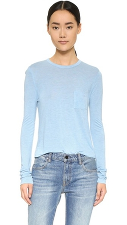 T by Alexander Wang - Classic Cropped Long Sleeve Tee