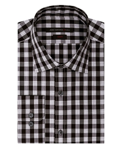 John Varvatos U.S.A. - Slim Fit Gingham Plaid Dress Shirt