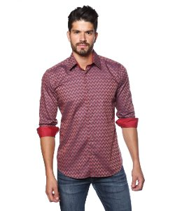 Jared Lang - Mens Woven Button Down Shirt