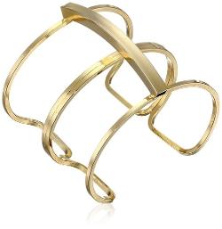 Yochi - Double-Link Open Cuff Bracelet