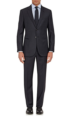 Giorgio Armani  - Tonal-Striped Wall St Suit