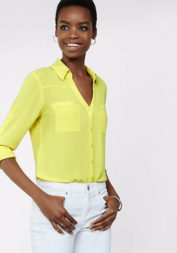 Express - Original Fit Convertible Sleeve Portofino Shirt