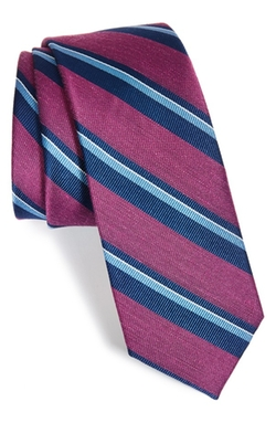 The Tie Bar  - Stripe Silk Blend Tie