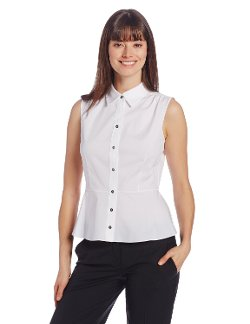 Elie Tahari - Beatrice Sleeveless Button-Down Blouse