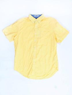Nautica  - Yellow Plaid Short Sleeve Button Down Shirt